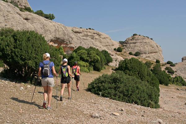 Arribant al cim de les Roques de Benet
